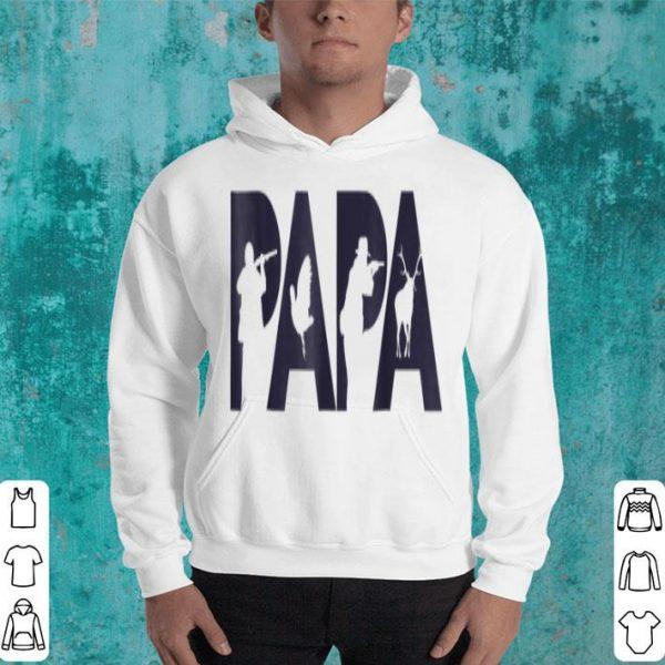 Hunter Dad Papa Hunting Father Gift Top Tee Shirt