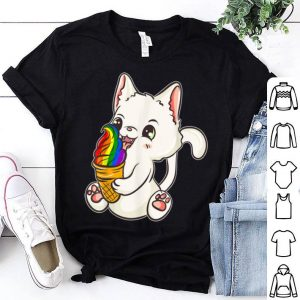 LGBT Pride Kawaii Japanese Anime Cat Ice Cream Shirt