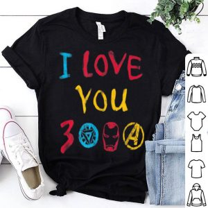 Marvel Avengers Endgame I Love You 3000 Drawing shirt