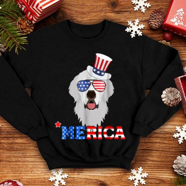 Merica Funny Great Pyrenees 4th Of July Gifts Tee Shirt