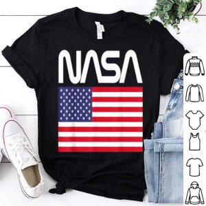 NASA 4th of July American Flag Space Astronaut shirt