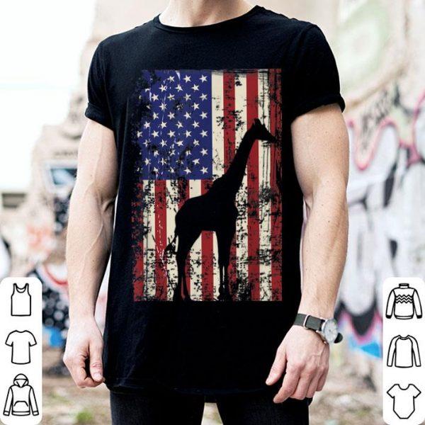 Patriotic Giraffe I 4th Of July American Flag shirt