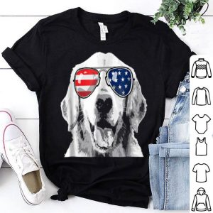 Patriotic Golden Retriever Dog 4th Of July Shirt