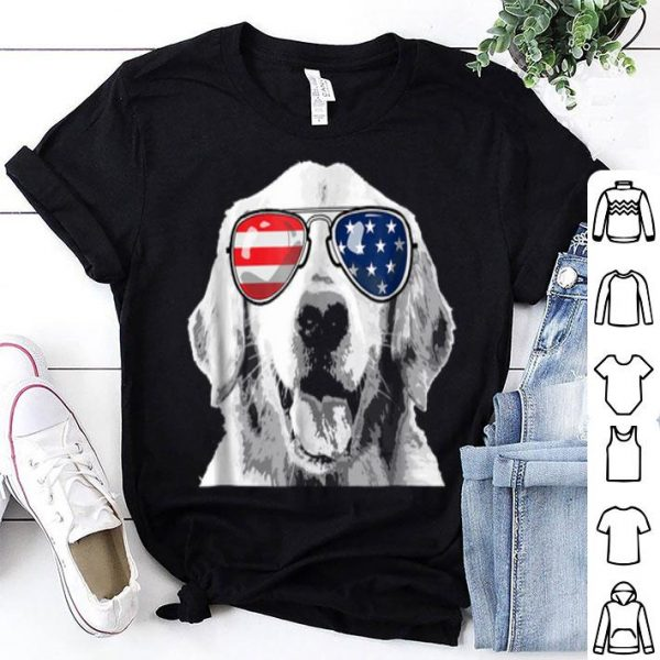 Patriotic Golden Retriever Dog 4th Of July Shirt