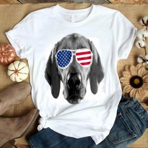 Patriotic Redbone Coonhound Dog Merica 4th Of July Shirt