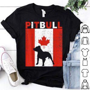 Pitbull Pitbull Canadian Flag 1st July Shirt