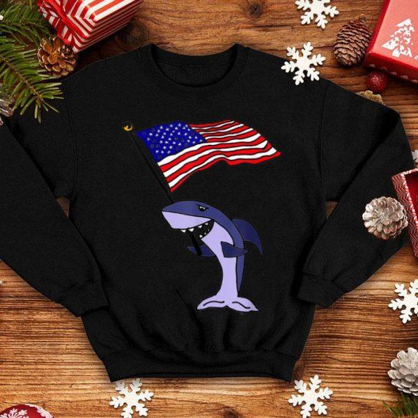 SmilesHol Shark with American Flag shirt