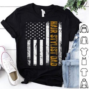 Vintage Hair Stylist Dad American Flag Father's Day shirt
