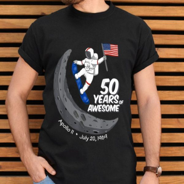 50 Years Of Awesome Moon Landing 1969 shirt