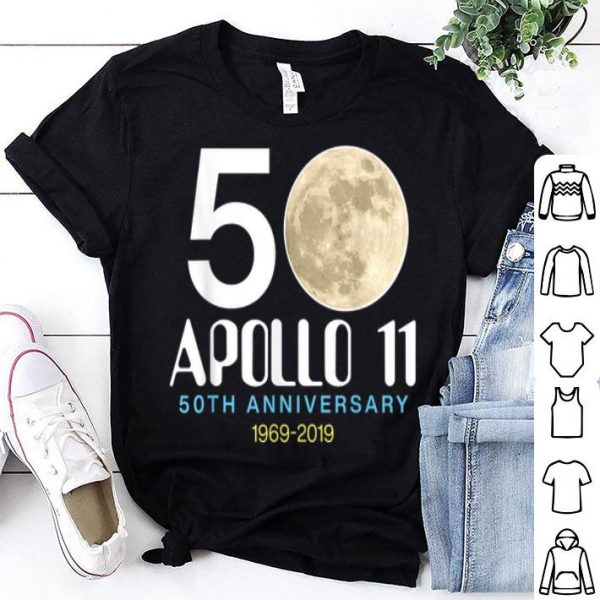 50th Anniversary Apollo 11 1969 2019 Moon Landing shirt