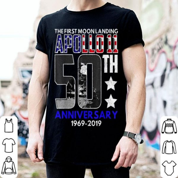 50th Anniversary Moon Landing Apollo 11 1969 - 2019 shirt