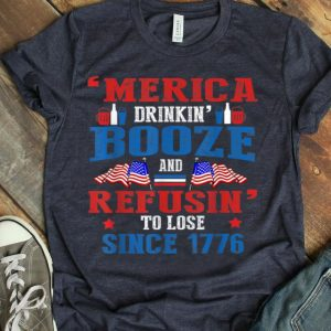 American Murica Beer Drinking For 4th Of July shirt