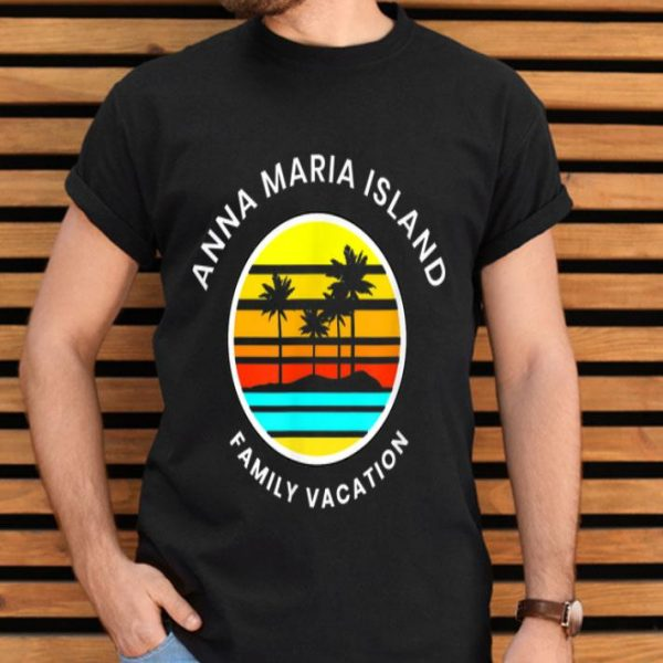 Anna Maria Island Florida Family Vacation Sunset Palm Trees shirt