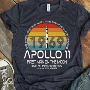 Apollo 11 50th Anniversary Moon Landing 1969 Vintage Retro Giant Leap shirt