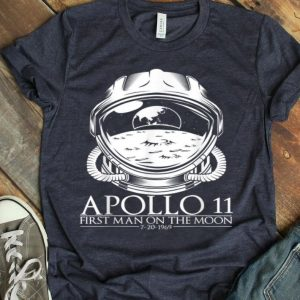 Apollo 11 First Moon Man Astronaut Space Helmet shirt