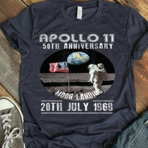 Apollo 11 First Step On The Moon 50th Anniversary Moon Landing 1969-2019 shirt