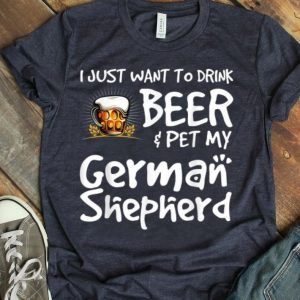 Beer And German Shepard For Dad Mom shirt
