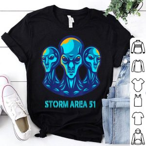 Blue Alien Storm Area 51 Alien UFO shirt