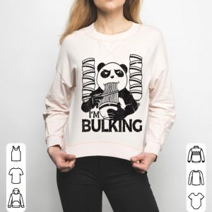 Bulking Panda Fitness Gym Workout Weightlifting Noodles shirt