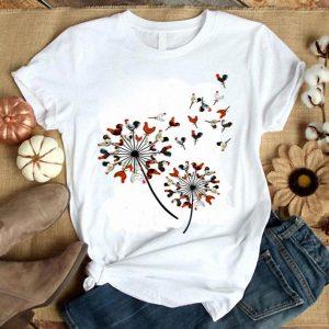 Chicken Flower Dandelion Chicken Flower Chicken shirt