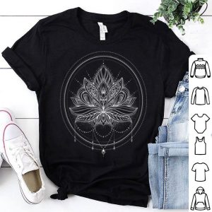 Circle Lotus Flower Mandala With Necklace shirt