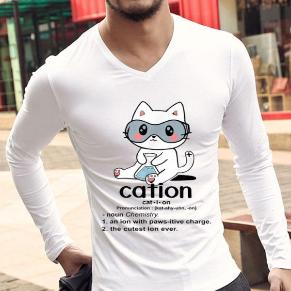 Cute Science Cat Cation Chemistry Cat Lover shirt