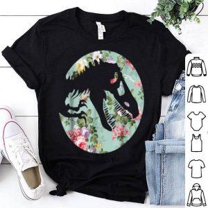 Dinosaur T-Rex For Womens Girls Flower Style shirt