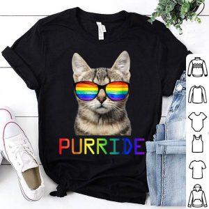 Feline The Purride Gay Pride Cat Kitten Sunglasses K shirt