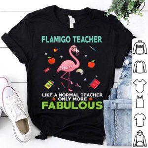 Flamingo Teacher-only More Fabulous shirt