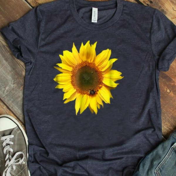 Flowers Nice Sunflower With A Bee shirt