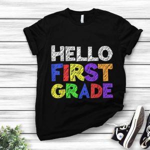 Hello 1st Grade Back To School sweater