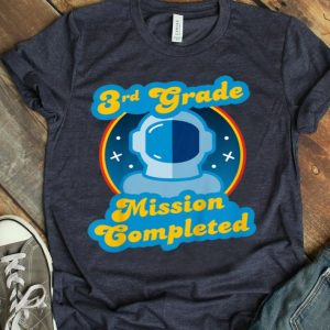 Kids 3rd Grade Graduation last day of school astronaut shirt