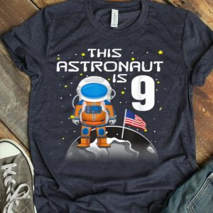 Kids 9th Birthday Astronaut One Step Boys 9 Year Old shirt