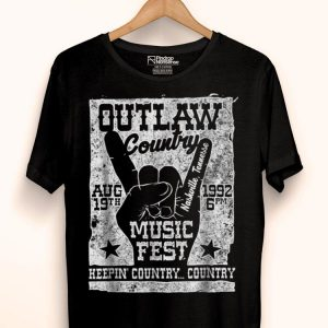 Outlaw Country Music Lover Fest Nashville Vintage Graphic shirt