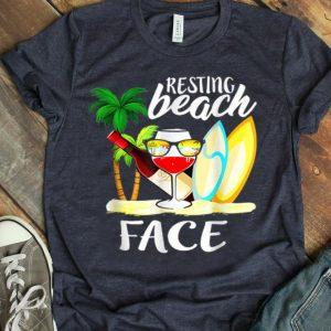 Resting Beach Face Wine Cool shirt