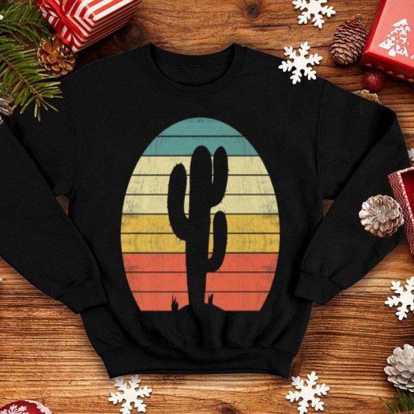 Saguaro Cactus Cactus Sunset Opuntia Cactaceae Retro Premium shirt