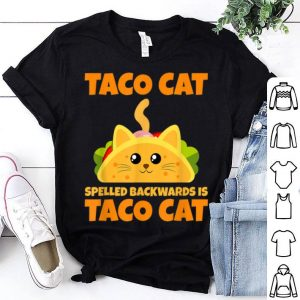 Tacocat Spelled Backwards Taco Cat Cinco De Mayo shirt
