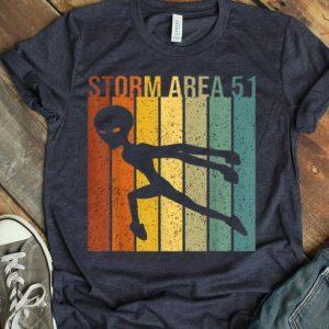 Vintage Alien UFO Hunter Storm Area 51 shirt