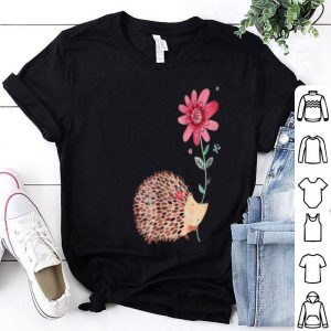 Vintage Hedgehog And Flower Art shirt