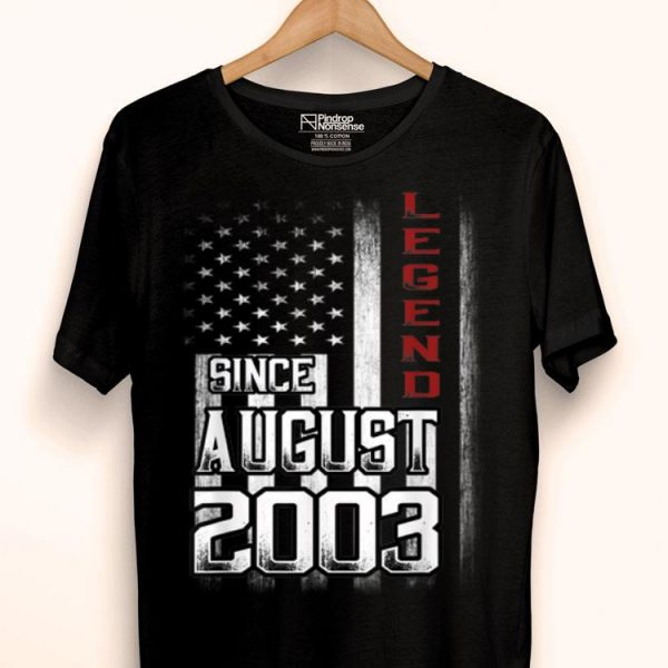 16th Birthday August 2003 Legends Vintage Flag shirt