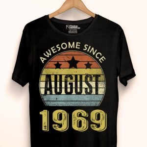 Awesome August 1969 50th Birthday Decorations shirt