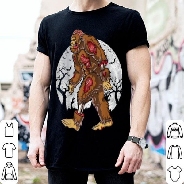 Awesome Bigfoot Zombie Halloween Kids Men Sasquatch Zombies shirt