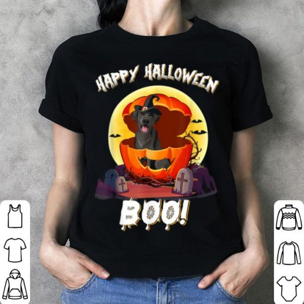 Awesome Black Lab Happy Halloween Boo Dog Gifts shirt