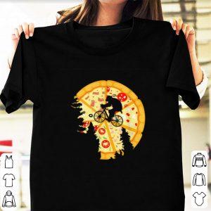 Awesome Ninja Turtle Bike Flying Across Pizza Moon shirt