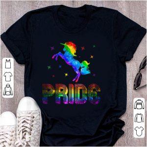 Awesome Pride Rainbow Unicorn LGBT Gay shirt