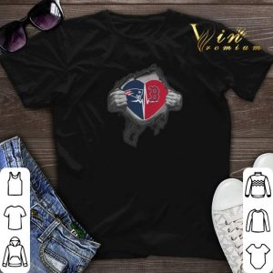 Boston Red Sox New England Patriots inside my heart shirt
