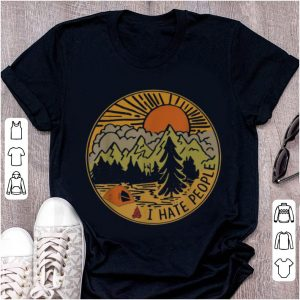 Hot Love Camping I Hate People Circle shirt