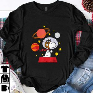 Hot Peanuts Snoopy Space Pilot Mars, Moon And Saturn shirt