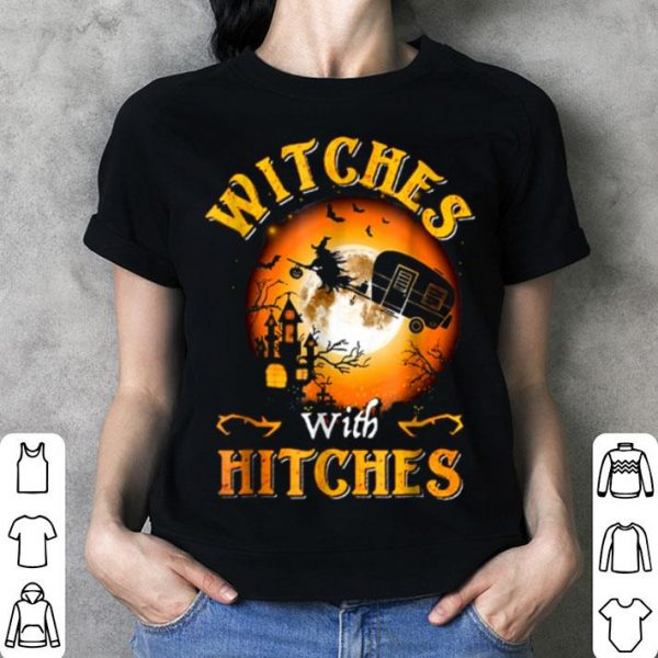 Hot Witches With Hitches Halloween shirt