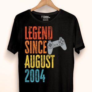 Legend Since August 2004 Gamer Birth Year Level Unlocked Premium shirt